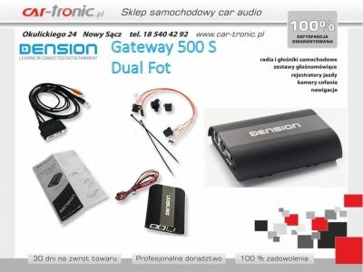 Dension Gateway 500S bez modułu Bluetooth -- Dual FOT -- Złącze światłowodowe
