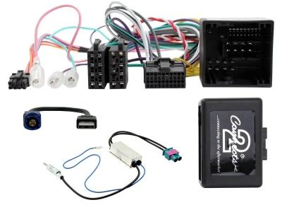 Adapter do sterowania z kierownicy Citroen Dispatch, Spacetourer 2016-> Jumpy 2017 ->  CTSCT012.2 Ekran dotykowy + tylne czujniki parkowania.