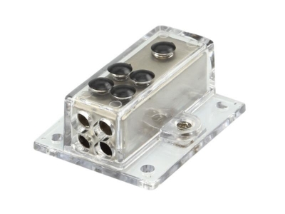 Dystrybutor zasilania ACV 1 x 20 mm ² / 4 x 10 mm ² srebny