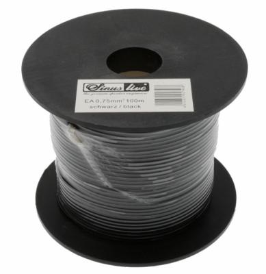 SINUSLIVE Kable zasilające LgYs 1,5qmm/cena na metry czarny