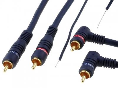 Kabel RCA 2x wtyk/2x wtyk+sterowanie 5,00m Dobra jakość