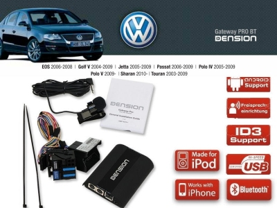 Dension Pro BT,AUX,USB,iPod,iPhone,ID3 - VW RCD300/500