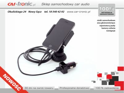 Dension CAR DOCK dla iPhone 5,5S,6- Uchwyt z transmiterem i ładowarką
