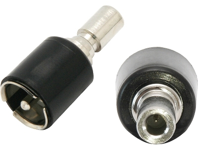 Adapter antenowy DIN Chevrolet, Chrysler, Ford, Opel ISO KĄTOWY (KRÓTKI)
