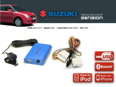 Cyfrowa zmieniarka Dension Bluetooth,USB,iPod,iPhone,AUX - Suzuki Swift, Vitara, Splash, SX4