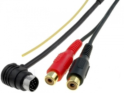 AUX Line IN adapter VW, Audi MFD.10pin - 2xRca 1m