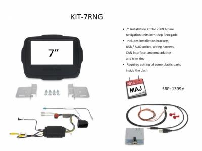 Zestaw montażowy 2DIN dla Alpine 2DIN 7-cali