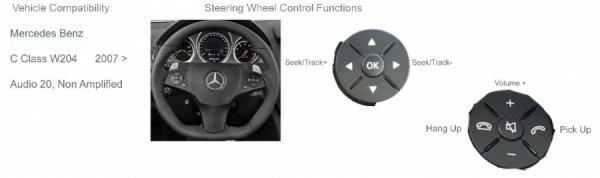 Adapter do sterowania z kierownicy Mercedes C-Klasse (W204), E-Klasse (W212) CTSMC005.2
