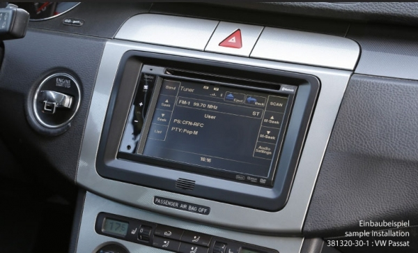 Ramka radiowa 2 DIN VW, Seat, Skoda piano black