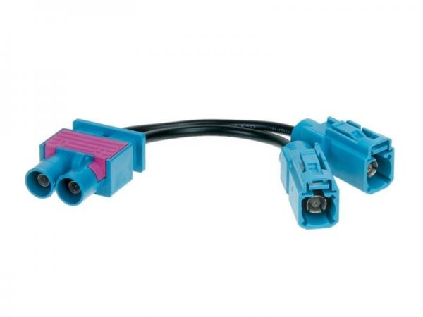 Adapter antenowy FAKRA podwójny (m) -> 2x Fakra Z (w)