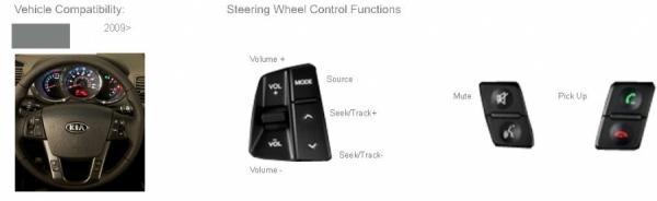 Adapter do sterowania z kierownicy Kia Sorento 2012->  z fabrycznym wzmacniaczem CTSKI008.2