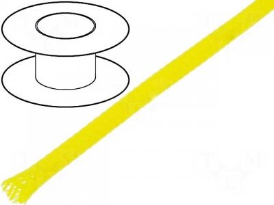 Oplot poliestrowy 4mm (3-7mm) żółty