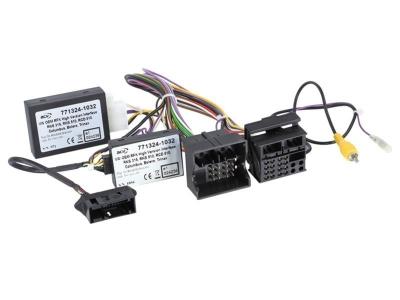 Adapter do uruchomienia tylnej fabrycznej kamery cofania SKODA, VW RNS510,RNS315,Columbus,RCD510 . Linie skrętne, wersja HIGH.