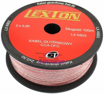 Kabel głośnikowy LEXTON 2x0.50 CCA-OFC