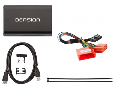 Cyfrowa zmieniarka Dension USB,iPod,iPhone,AUX,ID - Audi Concert II, Chorus II