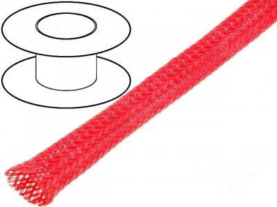 Oplot poliestrowy 8mm (7-13mm) czerwony