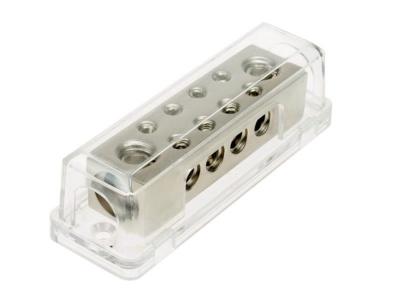 Dystrybutor zasilania ACV 2x50 mm ² , 8x10 mm ² srebny