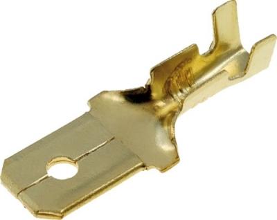 Konektor płaski męski nieizolowany 6,3mm (1-2,5mm2)
