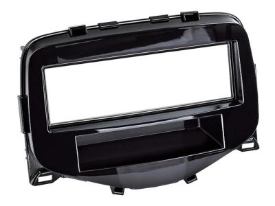 Ramka radiowa Citroen C1,Peugeot 108,Toyota Aygo 2014-> czarny połysk
