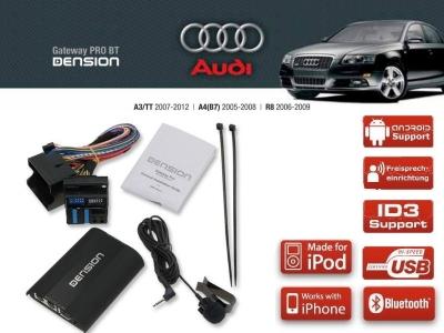 Dension Pro BT,AUX,USB,iPod,iPhone,ID3 - Audi A4,A3,TT