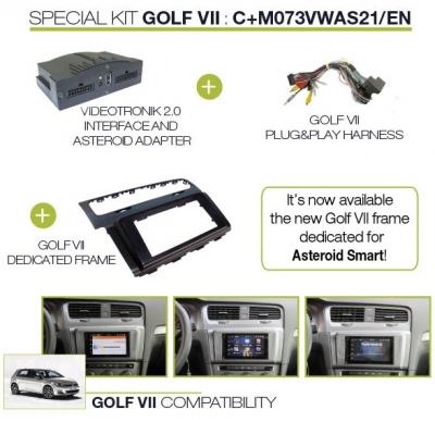 Videotronik 2.0 - VW Golf VII Parrot Asteroid Classic