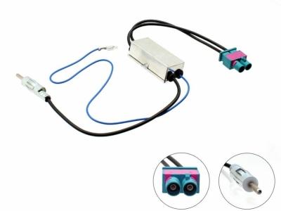 Adapter antenowy DIN 2 x FAKRA, Diversity