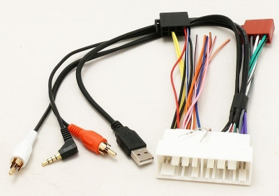 Adapter na ISO USB, AUX, RCA Hyundai i30, Tucson, Kona, Kia Optima, Sportage, 2017 ->