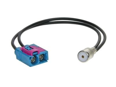 Adapter antenowy; ISO gniazdo, Fakra gniazdo x2 Audi, Seat, Skoda, VW 2008->