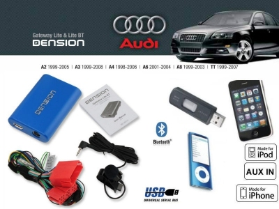 Digital changer Dension Bluetooth, USB, iPod, iPhone, AUX - Audi A2, A3, A4, A6 Seat Leon, Toledo, Ibiza