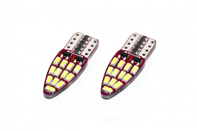 Żarówka LED CANBUS 24SMD 3014 T10e (W5W) White 12V