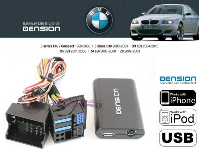 Cyfrowa zmieniarka Dension USB,iPod,iPhone,AUX - BMW E39,E38,X3,X5, 40 PIN