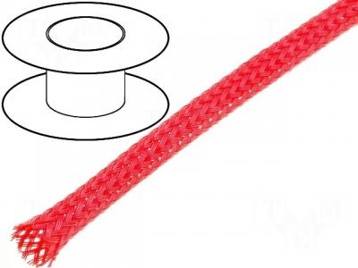 Oplot poliestrowy 4mm (3-7mm) czerwony