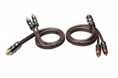 SINUSLIVE YX2 - rozdzielacz chinch 2x gniazdo - 4x wtyk, czarny/brązowy