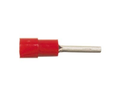 Końcówka tulejkowa izolowana 0,5 - 1,5 mm² czerwona