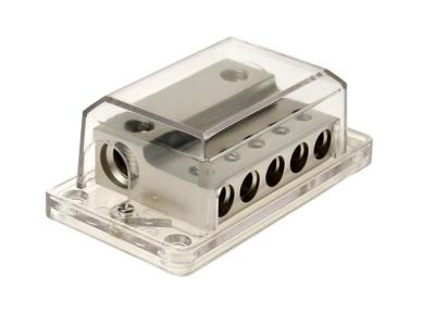 Dystrybutor bezpieczników AGU 2 x 35-50 mm ² / 5 x 20 mm ²  srebny