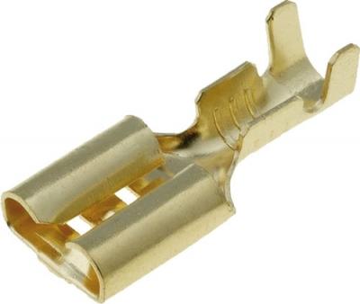 Konektor płaski żeński nieizolowany 6,3mm (1-2,5mm2)