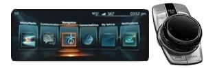 Seria G z NBT2 (kontrola gestów) System Navi Professional z kontrolerem iDrive Touch i ekranem dotykowym został zainstalowany w G-Series od 2016 roku. Oprócz animowanych menu, system jest rozpoznawany przez kontrolę gestów.
