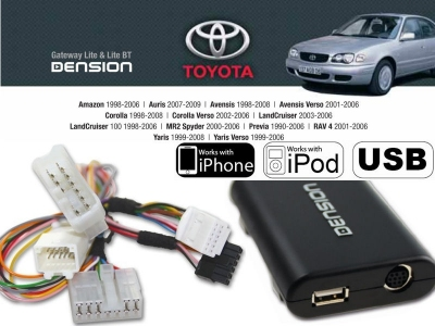 Cyfrowa zmieniarka Dension USB,iPod,iPhone,AUX - Toyota, Lexus