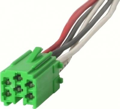 Wtyk Mini-ISO -zielony.W komplecie przewody.