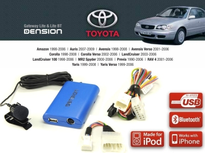 Cyfrowa zmieniarka Dension Bluetooth,USB,iPod,iPhone,AUX - Toyota, Lexus