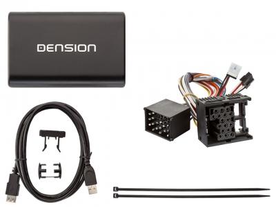 Cyfrowa zmieniarka Dension USB,iPod,iPhone,AUX,ID3 - BMW 17 PIN