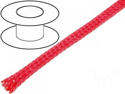 Oplot poliestrowy 3mm (2mm-5mm) czerwony