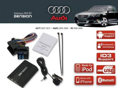 Dension Pro BT,AUX,USB,iPod,iPhone,ID3 - Audi A4,A3,TT