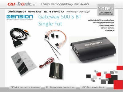 Dension Gateway 500S BT Bluetooth Audi BMW Mercedes Porsche SINGLE FOT