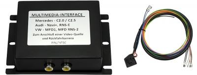 Interfejs 2 x Video VW SEAT SKODA MFD2,RNS2,NEXUS z obsługą fabrycznej kamery cofania