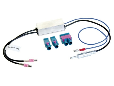 Adapter antenowy DIN 2 x FAKRA, Diversity zestaw prosty