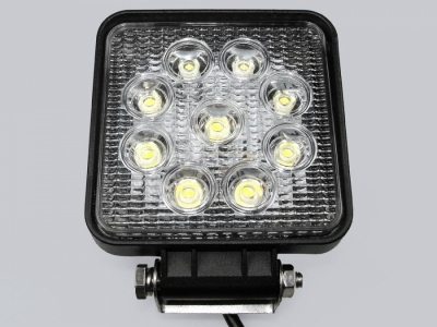 Reflektor LED samochodowy prostokątny 9*3W IP68