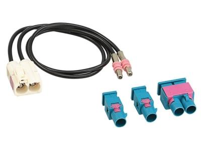 Adapter antenowy Fakra gniazdo (F), 2x Fakra wtyk (m) lub Double Fakra (m)