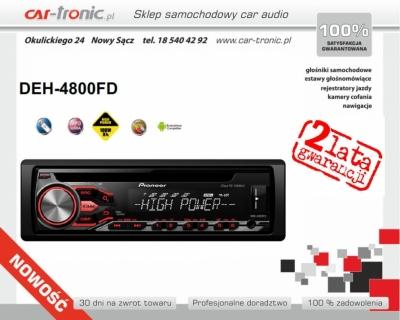 Pioneer DEH-4800FD Nowość 2016, Zamów: 185404292, Moc: 100W