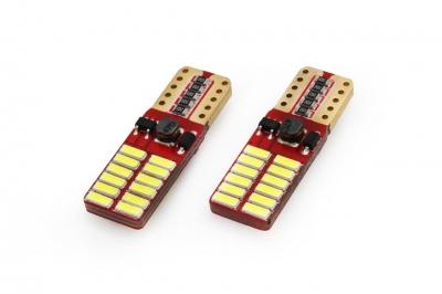 LED CANBUS 24SMD 4014 T10e (W5W) White 12V/24V